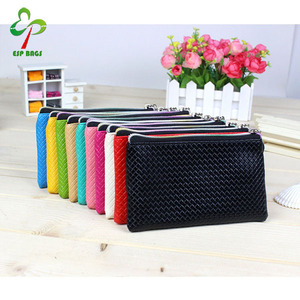 Multi-colors good quality PU leather durable zipper pouch, wholesale fashion small comestic zipper bag