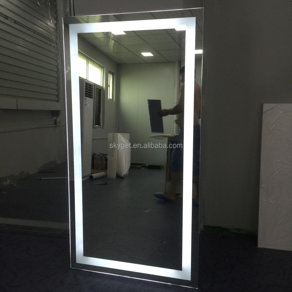Peluquer a espejos estaciones espejo con luz led espejo de for Espejo de pared cuerpo entero