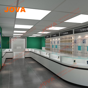 0552b1c47c1fb9 With Display Showcase Cabinets Wall Display Mobile Phone Shop Interior  Design