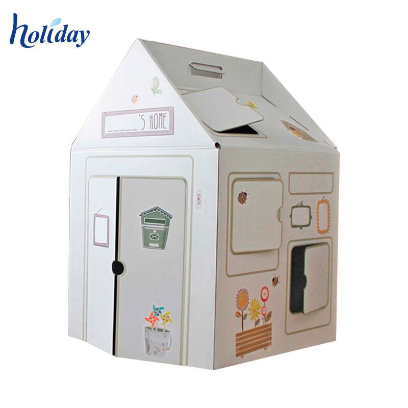 Free Painted Foldable Kids Favorite Cardboard House Toy