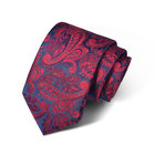 Men's Floral Tie Handkerchief Jacquard Woven Pocket Square and Flower Necktie