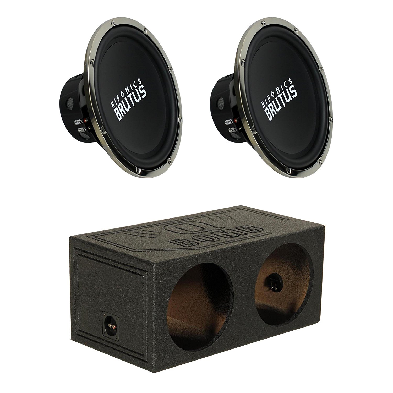 Buy Hifonics Brutus 15 Inch 1200 Watt Subwoofer (2 Pack) +