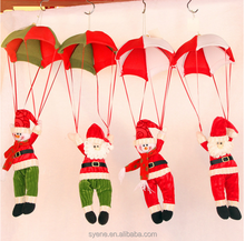 High Quality Popular Santa Clause Cloth Hanging Ornament Santa Christmas Decoration Hanging Ornaments Plush Santa Clause Father