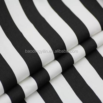 100 Cotton Black White Stripe Fabric