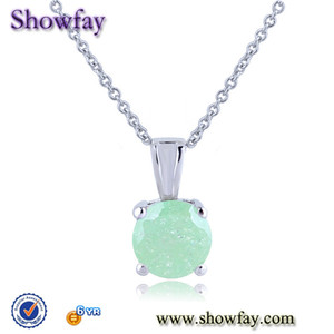 q0725 showfay brand zircon ball chain necklace with connector