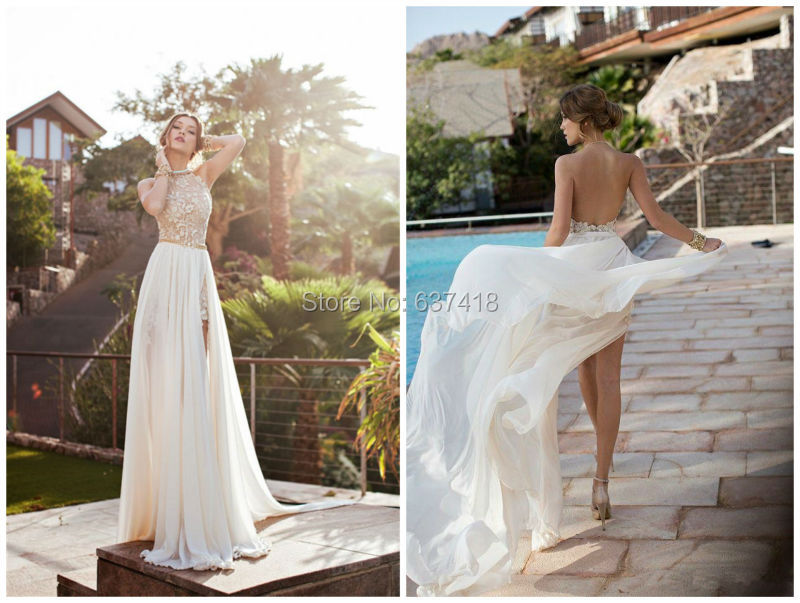 New Arrived Elegant Simple Wedding Dress Beach Wedding