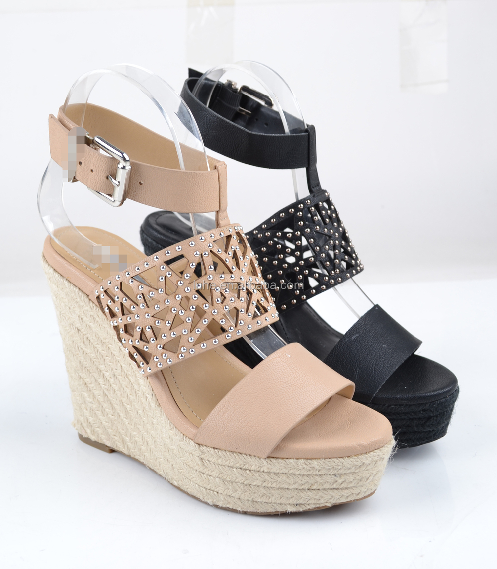 latest design girls wedge sandal women shoes fashion wedge