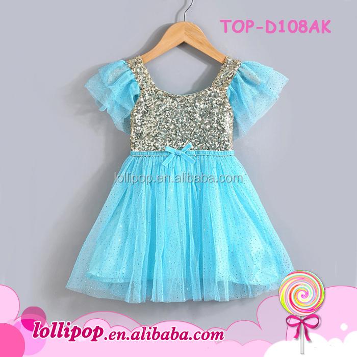 f85ab9194f97 Boutique Ceremony Modern Light Blue Child Dress Girls Party Wear ...