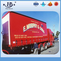 Waterproof Vinyl Tarpaulin Container Side curtain / dump truck cover