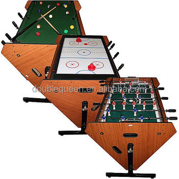 Custom Pool Table Felt Designs With Soccer Table And Air Hockey Table