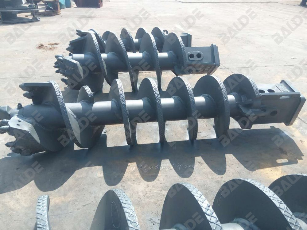 Casing twister auger with round shank cutter bit 30/38mm