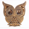 Owl Sequin Embroidered Patches for Clothing Iron on Applique Stripes Clothes Jean Animal Bird Motif Fabric Sticker Badges Craft