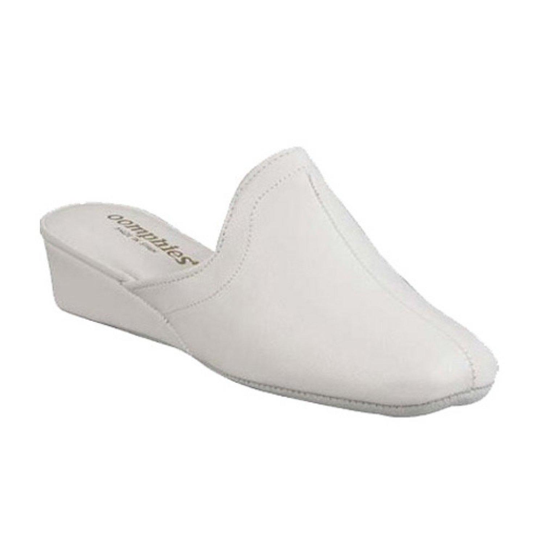 Oomphies by Lamo Womens White Granada Slippers