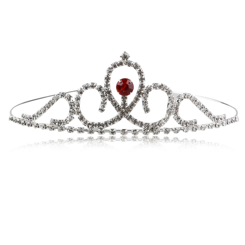 Tinksky Wedding Headband Tiara Rhinestones Crystal Bridal Flower Girl Crown for Wedding Valentine's Day gift