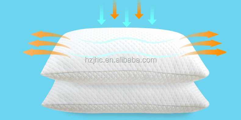 Washable white memory foam with polyester fibers filling travel bed sleeping pillows