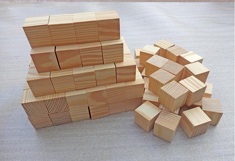 Naturale legno di pino grezzo blocchi di legno del for Cubi in legno per arredare