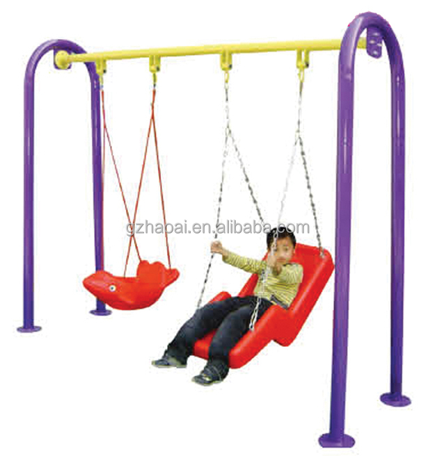 A-05602 Funny and cheap outdoor playground children double seat garden swing
