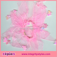 Latest design fashion ponytail holder elastic hair bands with butterfly decorations