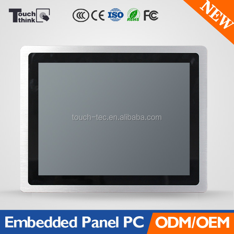15 inch LCD SAW Touchscreen Embedded All in One PC