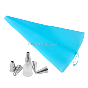 Piping Bags, Reusable Pastry Bags Silicone Icing Bag Cake Decorating Supplies Cupcake Frosting DIY Baking Tool