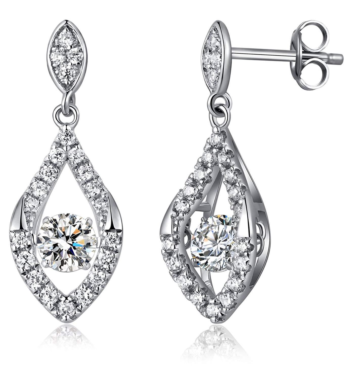 682f85375 Get Quotations · Dancing Teardrop Earrings,Sterling Silver