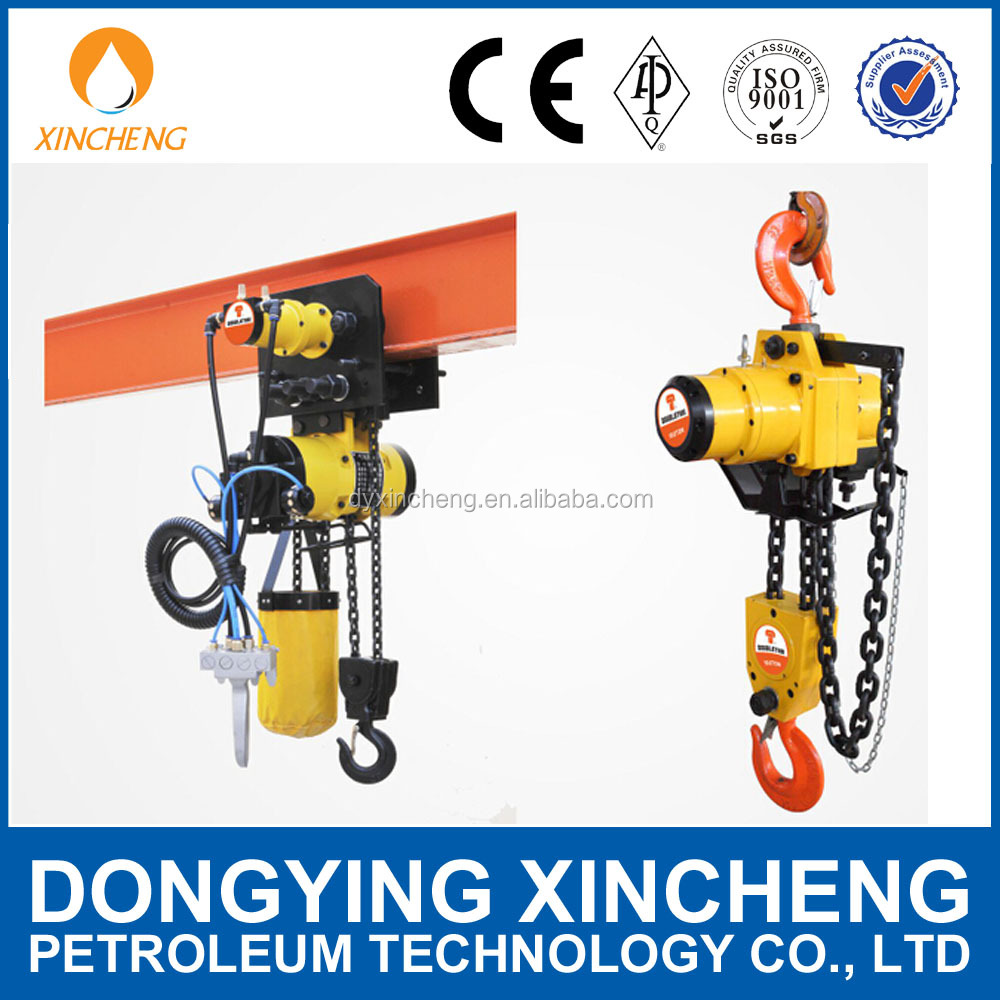 Air chain hoist 1 t, 6m with compressed air preparation unit