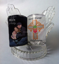 personalized crystal BIBLE praying hands baptism souvenir MH-G0365