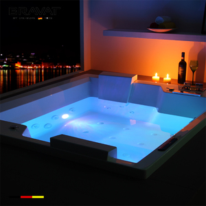 Luxury acrylic bathtub hot swimming spa for party outdoor swimming spa bathtub B25823DW-8W