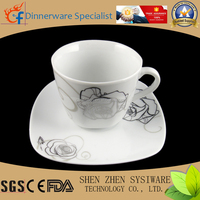 high quality and stock cheap ceramic 90cc cups and saucers