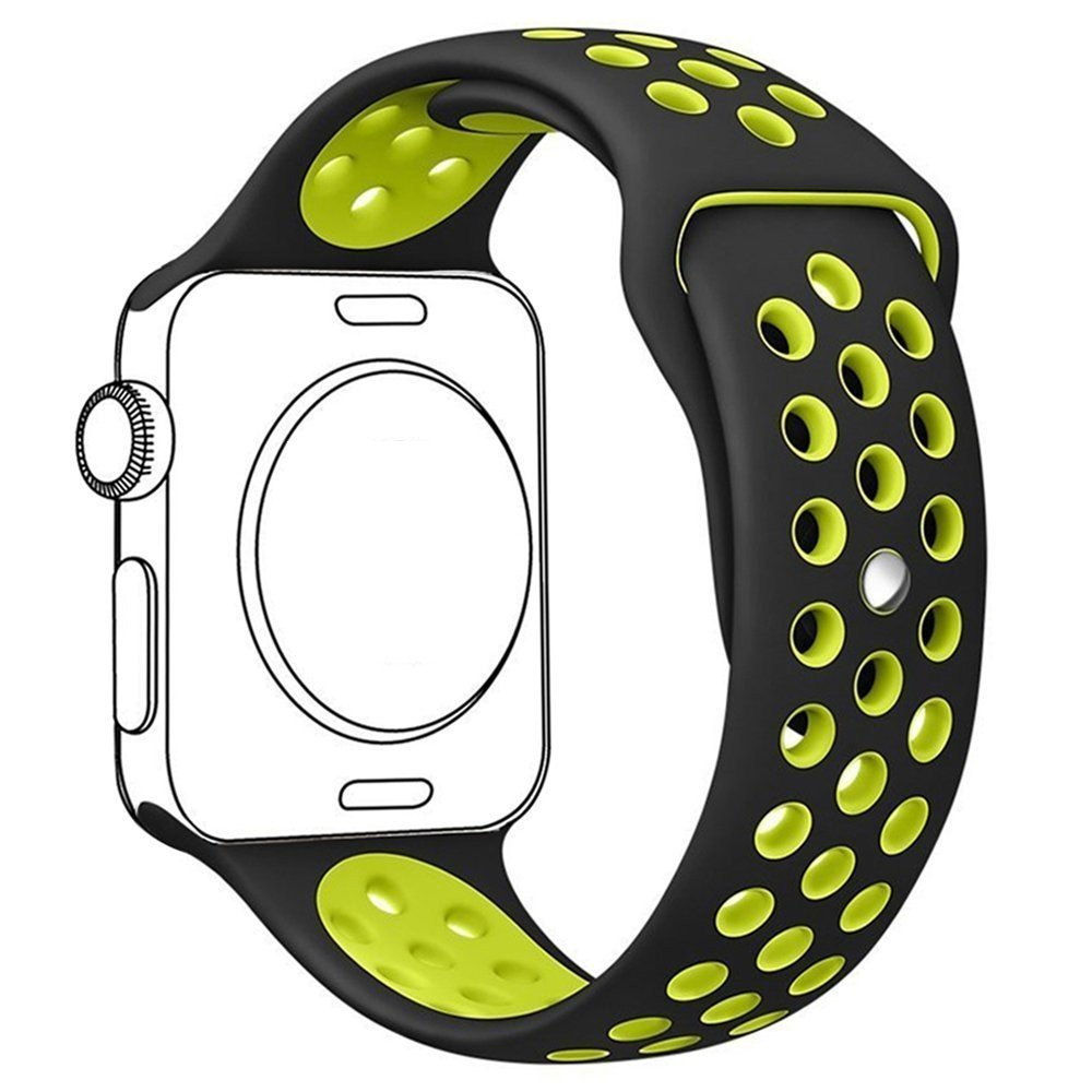 Get Quotations · Apple Watch Band, Nike Sport Band Daxboo Soft Silicone  Sports Replacement Band with Ventilation Holes