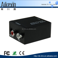 OEM Male to male 1 input 2 output Digital to Analog audio Converter Optical SPDIF/Coaxial Digital to RCA L/R Analog