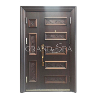 Safety factory supply low price fancy steel door design
