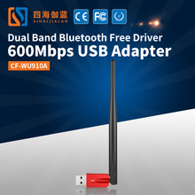 COMFAST CF-WU910A Bluetooth 4.2 Dongle Dual band 2.4GHz 5.8GHz 600Mbps AC USB Wireless Network Adapter Wifi Adapter For PC