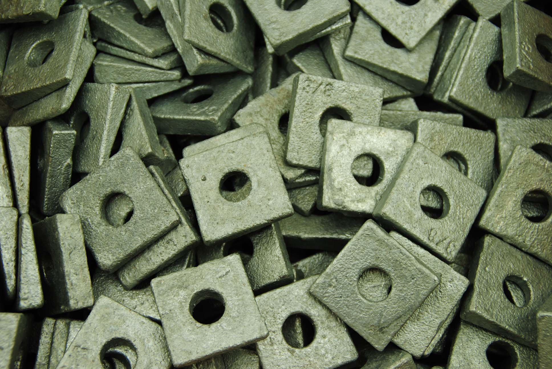 20 Galvanized Malleable 1 Square Bevel Washers I-Beam Flange Wedge 1