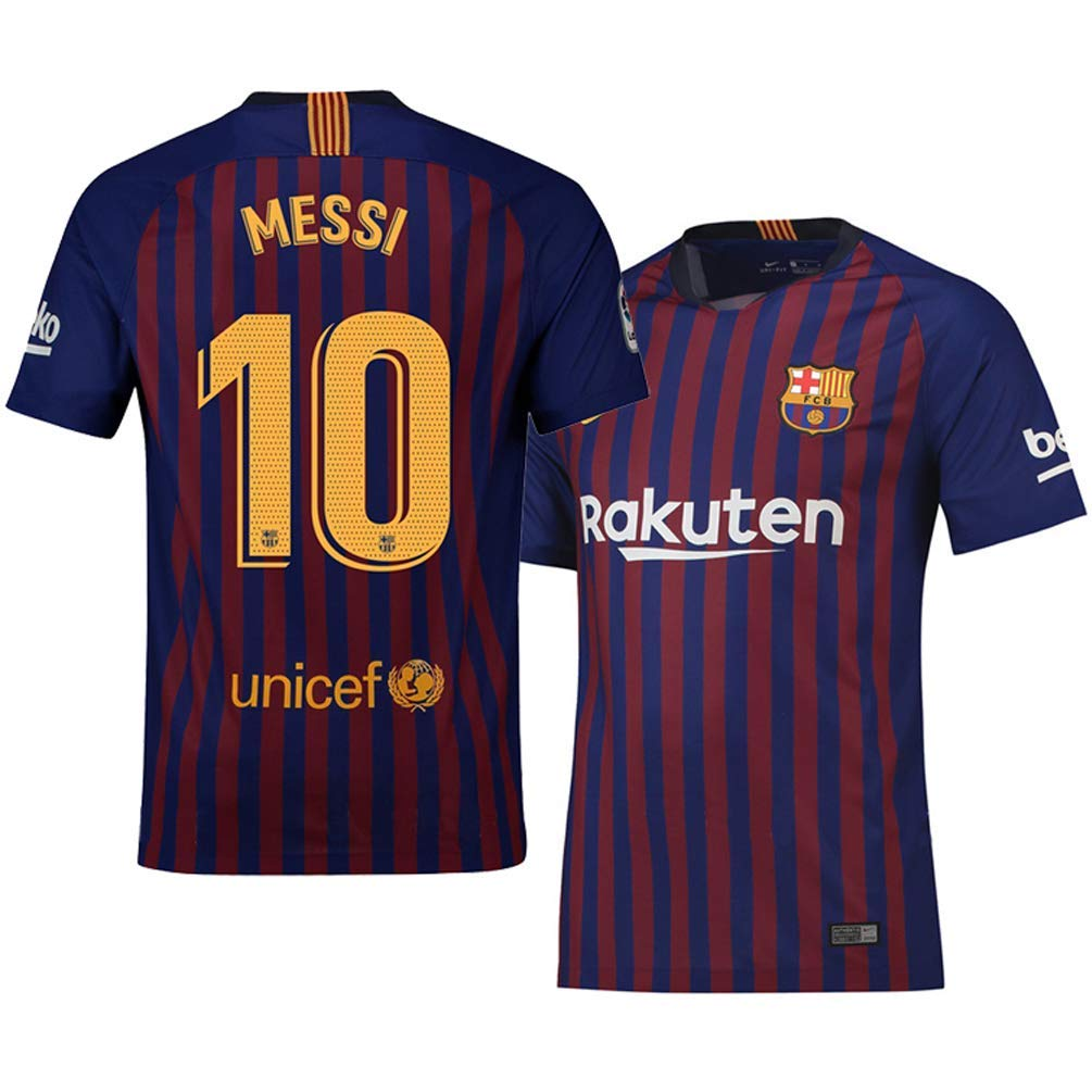 65a992912e0 Get Quotations · Messi 10  Jersey Men Barcelona Home New 18 19 Soccer Jersey