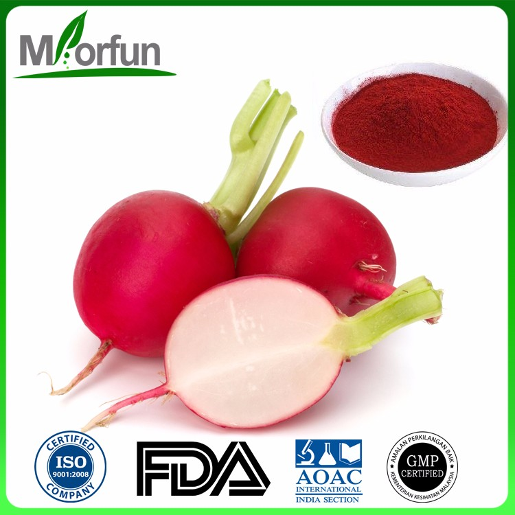Hot Selling radish red powder color radish seed p.e. with high quality