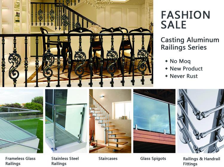 Modern metal railing handrail column stair aluminum baluster
