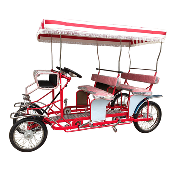 Best Selling Park Sightseeing 4 Person Surrey Bike Cycles