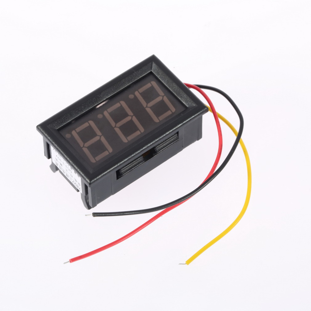2016 new arrival Mini Digital led Display Voltmeter 4.5-30V 3 wires Vehicles Motor Voltage Panel Meter