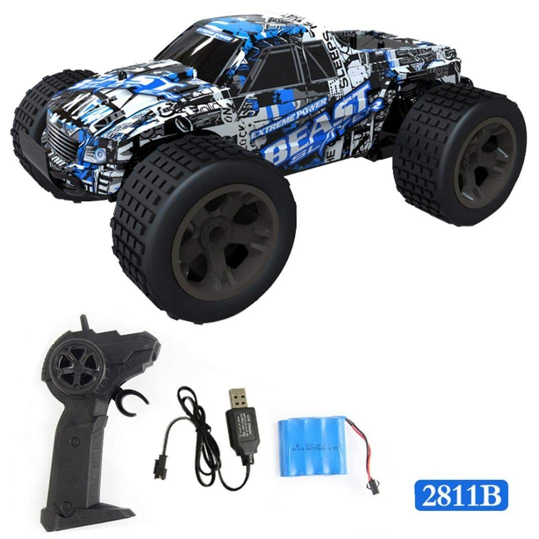 Outsta Radio Remote Control Car, Multiplecolor 2.4GHz High Speed RC Racing Car 4WD Remote Control Truck Off-Road Buggy Toys Truck Vehicle Electric Cars Gift for Boys (Multicolor-D)