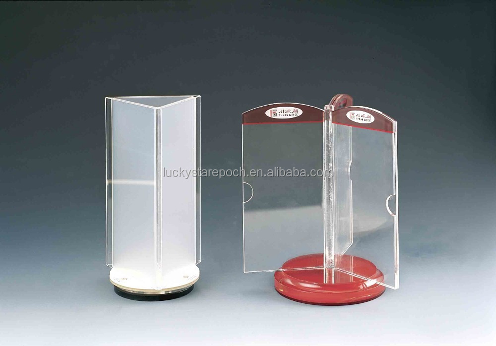 Rotating Acrylic Display Stand Triangle Display Menu Stand ...