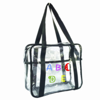 Wholesale New Design Personalized Monogram Clear Tote Bag