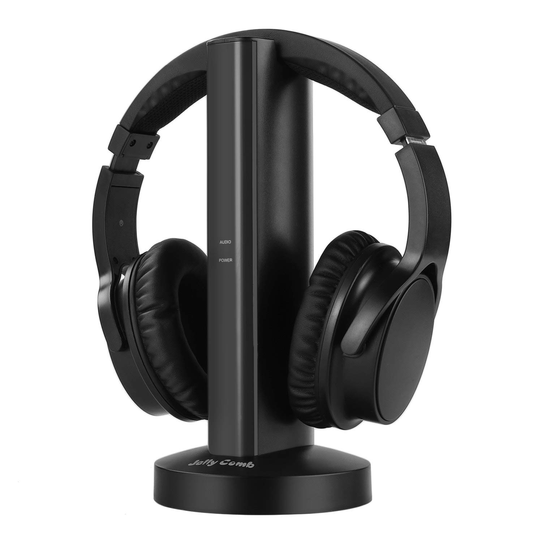 465eddd69ec Get Quotations · Wireless TV Headphones, Jelly Comb Over-Ear 2.4GHz  Wireless Optical TV Headphones with