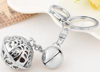 Fair silver gold tinkle bell key ring fashion key ring
