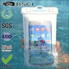 Clear mobile phone waterproof bag with earphone