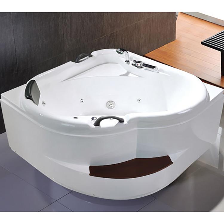Corner Massage Bath Tub Glass Air Bubble Whirlpool Bathtub With ...