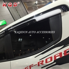Two-Color Door Window Visor Wind Deflectors for Mitsubishi L200 Triton
