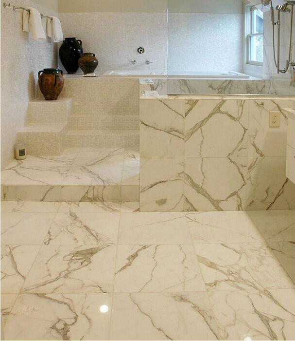 Top Quality Calacatta Gold Marble From Italy For Floor Tiles