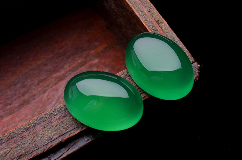 Is Western Union Safe >> Natural Oval Cut Flat Back Cabochon Chrysoprase Gemstone Green Chalcedony Stone - Buy Green ...