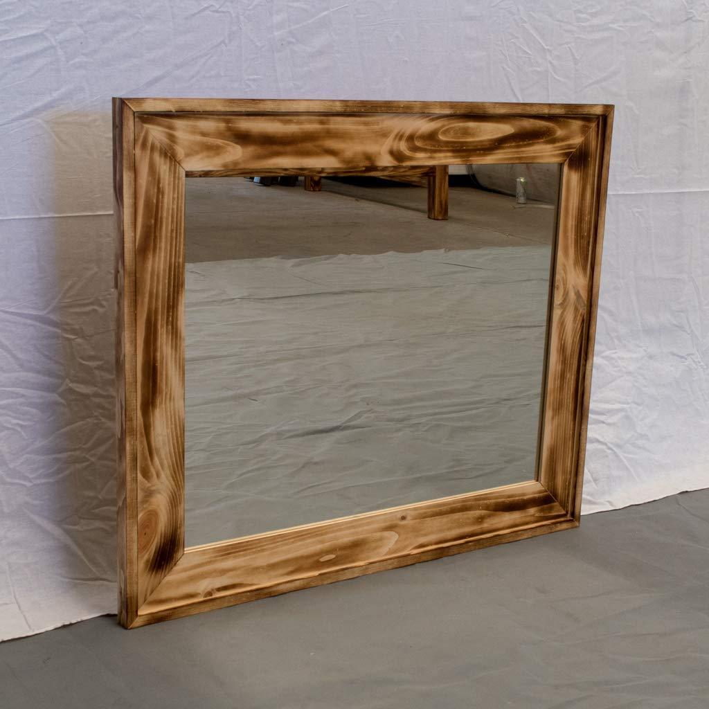 Torched Farmhouse Mirror/Wood Reclaimed Mirror/Modern / Urban/Cottage Mirror